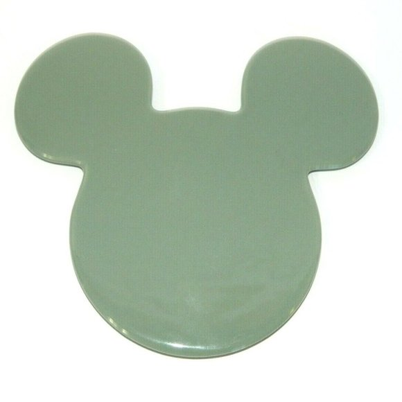 Mickey Mouse Head Green Ceramic Trivet hot Plate